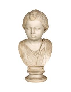 Buste de petite fille romaine en toge