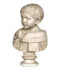 Bust of a roman boy in a toga