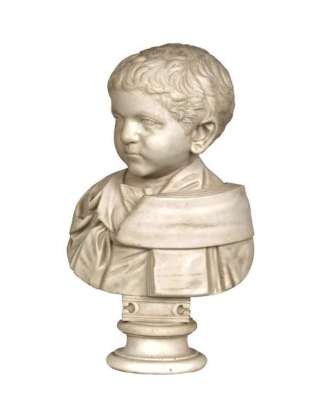 Busto de nino romano con toga
