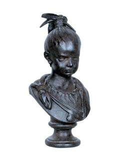 Buste de petite fille en couleur noire