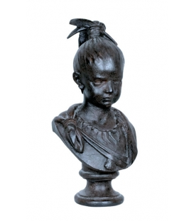Little girl's bust in black color