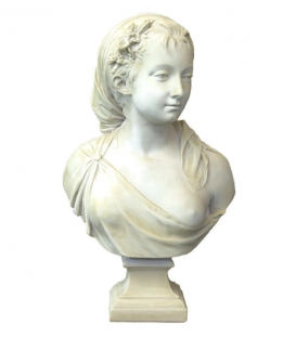 Bust of a young peasant girl