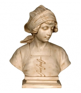 Bust of a peasant girl