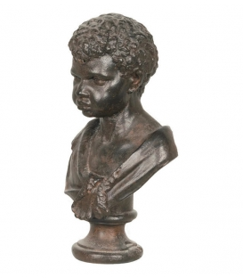 Bust of a young boy in black color