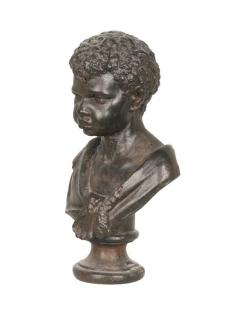 Buste de jeune garçon en couleur noire