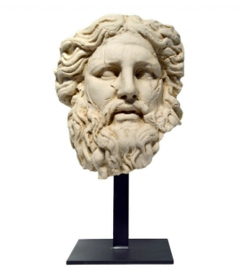 Zeus head with iron base
