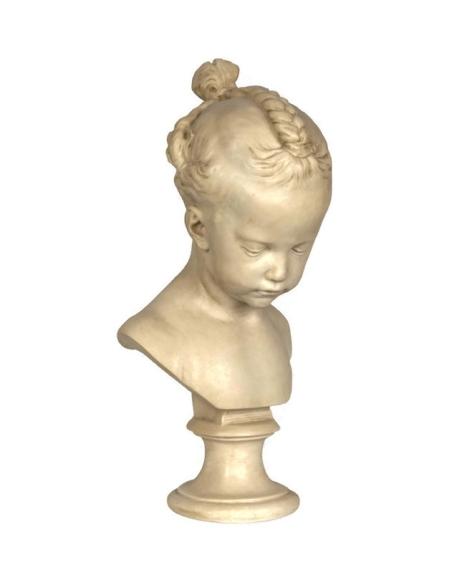 Busto de la chica con trenzas por Jacques-François-Joseph Saly