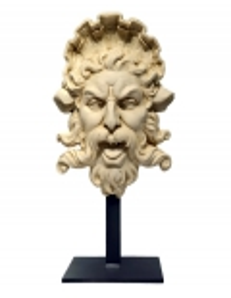 Buste de Triton avec support en fer
