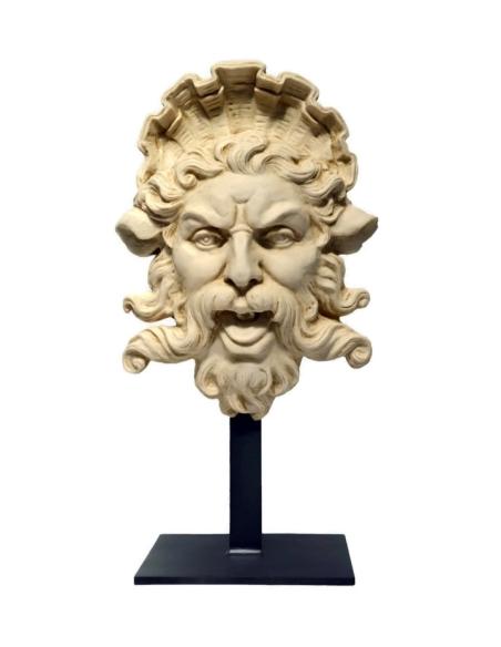 Busto de Triton con soporte de hierro