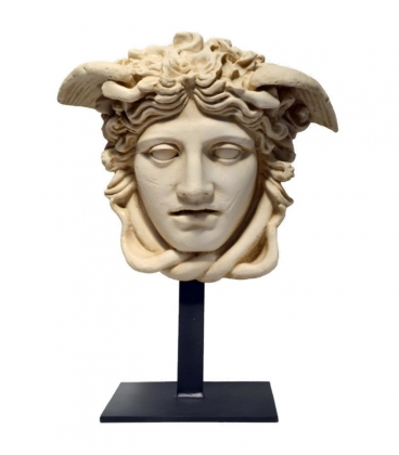 Rondanini Medusa head with iron support