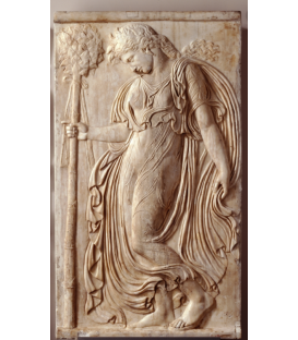Dancing maenad looking at the ground by Callimachus