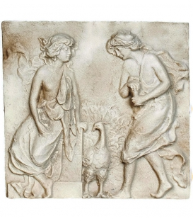 Bas-relief paon royal