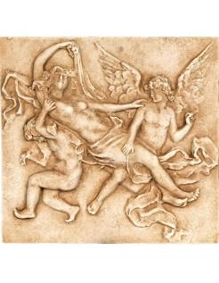 Bas-relief Femme avec anges
