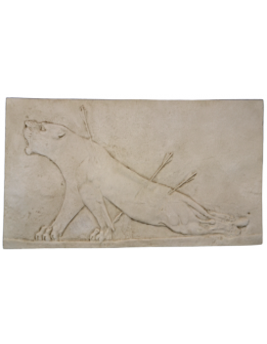 Bajorrelieve Leona herida Palacio de Asurbanipal