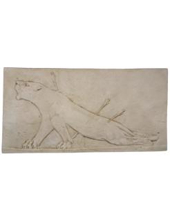 Bas-relief lionne blessée Palais d'Asurbanipal