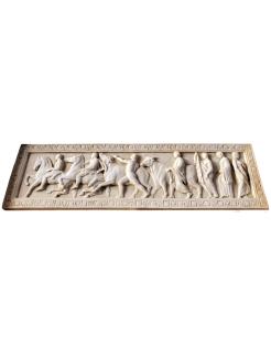 Bas-relief cérémonie de sacrifice des boeufs