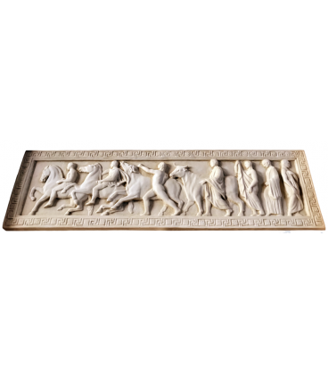 Bas-relief ceremony of sacrifice of the oxen