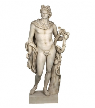 Apollo with Lyre - Life-size Statue - Greek God of Music