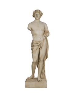 Baco con Serpiente - Estatua de tamaño real - El dios del vino, la vendimia