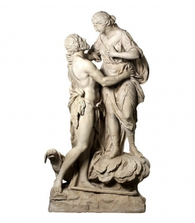 Selene and Endimion - Life-size statues - Roman Goddess of the Moon and of the Shepherd