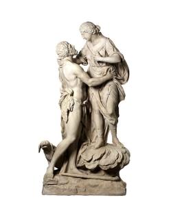 Sélène et Endymion - Statues grandeur nature - Déesse romaine de la Lune et du Berger