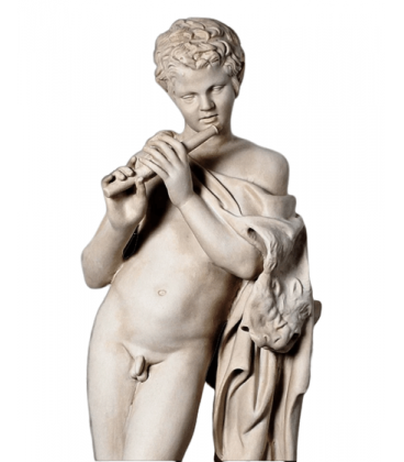 Satyr playing flute