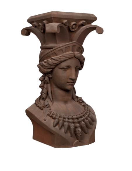 Escultura cariatide columna busto