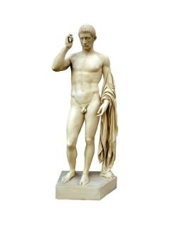 Marcus Claudius Marcellus en Hermès Logios Statue Taille Humaine