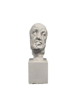 Petite tête de l'homme au nez cassé - Auguste Rodin