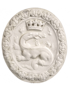 Rosetón de la salamandra, emblema de Francisco I