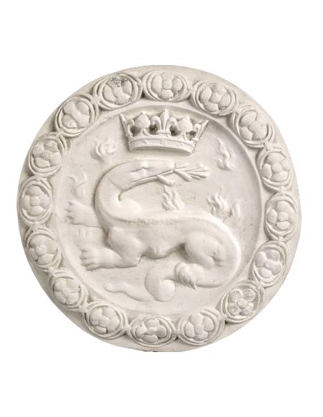 Rosace de la salamandre emblème de François Ier
