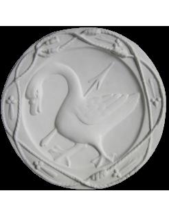 Rosace Oie emblème d'Anne de Bretagne reine de France - château de Blois