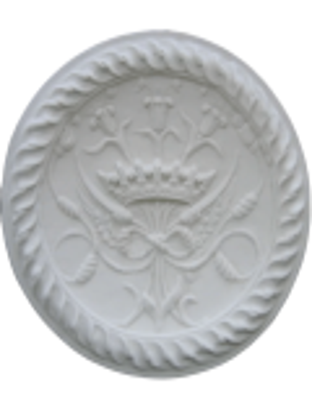 Rosace emblème couronne royale - château de Blois