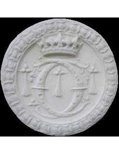 """Rosace monogramme de Catherine de Médicis : deux """"C"""" entrelacés - château de Blois"""