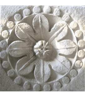 Rosette of the holy cross church - La Charité sur Loire - XIIth century