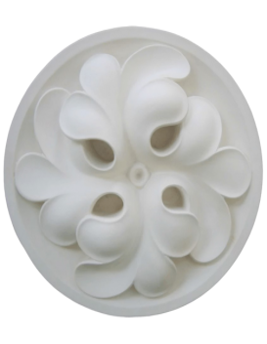 Rosace à quatrefeuilles de trèfle en spirale - XIVe siècle