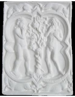 Rosetón de Adán y Eva de la catedral de Rouen Francia - siglo XIV