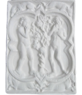 Quatrefoil rosette of Adam and Eve from Rouen Cathedral - 14th century