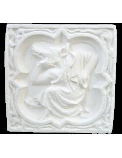 Rosace Quatrefeuilles Homme à tête de cochon de la Cathédrale de Rouen - XIVe siècle