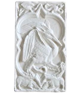 Quatrefoil Rosette with fantasy bird of the Cathedral of Rouen - XIVth century
