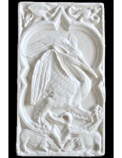 Rosace Quatrefeuilles oiseau fantastique de la Cathédrale de Rouen - XIVe siècle