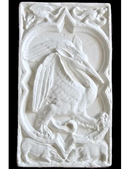 Rosetón de cuatro pétalos Pájaro fantastico de la catedral de Rouen - Siglo XIV