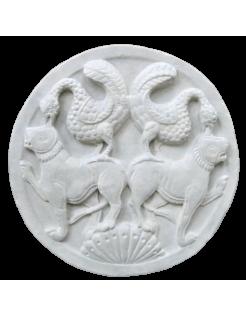 Médaillon oiseaux et Lions Musée de Picardie à Amiens - XIIe siècle