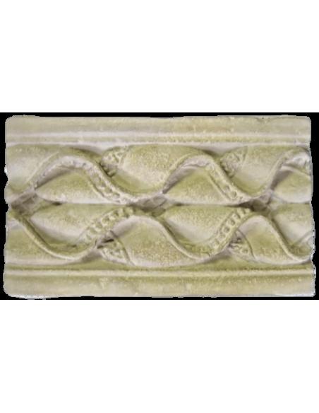 Bordure galon de perles et ondes - Fragment de Pilastre - Charlieu