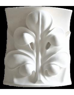 Feuille de style gothique pour fond concave