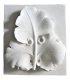 Stylized cabbage leaves