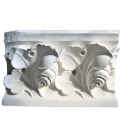 Cabbage leaf frieze in Gothic style
