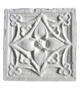 Floral ornament from pillar of 18th century