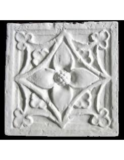 Ornement floral de pilier XVIII ème siècle