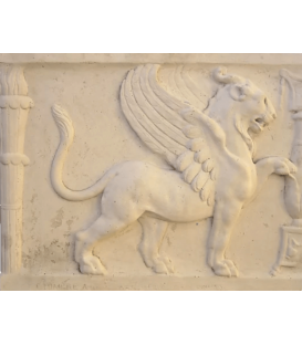 Antique style chimera bas-relief